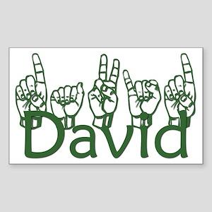 David-gn Rectangle Sticker
