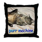 purr machine Throw Pillow