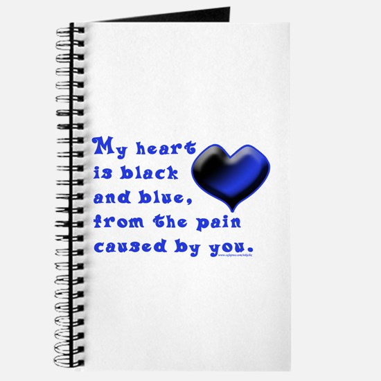 Black and Blue Heart Journal