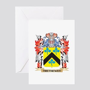 Trethewey Coat of Arms - Family Cre Greeting Cards