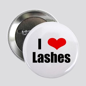 "I heart lashes 2.25"" Button"