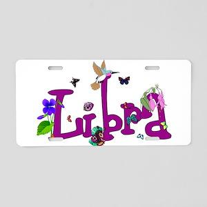 Libra Flowers Aluminum License Plate