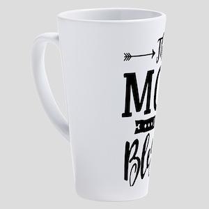 Mom Is Blessed Christian Mothers D 17 oz Latte Mug