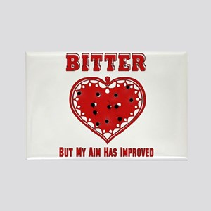 Bitter Bullet Heart Rectangle Magnet