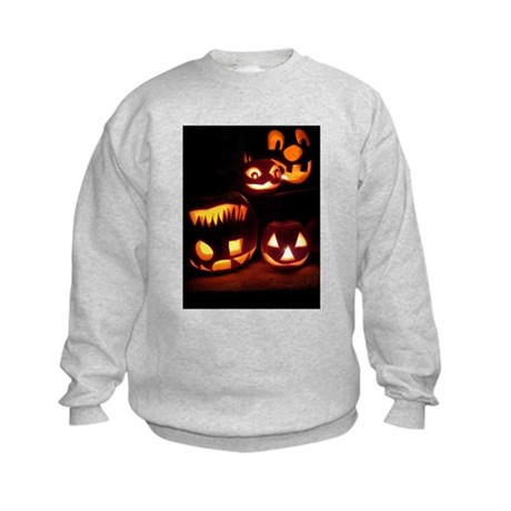 Halloween Pumpkins Kids Sweatshirt