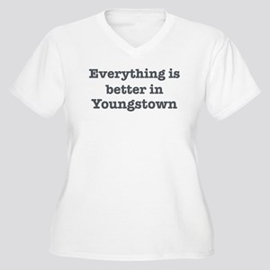Better in Youngstown Women's Plus Size V-Neck T-Sh