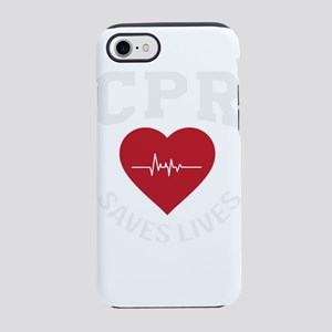 CPR Saves Lives Gift iPhone 8/7 Tough Case
