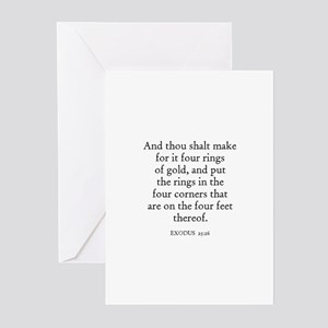 EXODUS  25:26 Greeting Cards (Pk of 10)