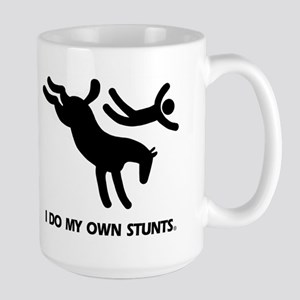 Horse I Do My Own Stunts Large Mug