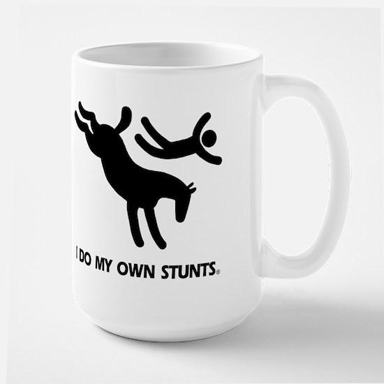Horse I Do My Own Stunts Large Mug