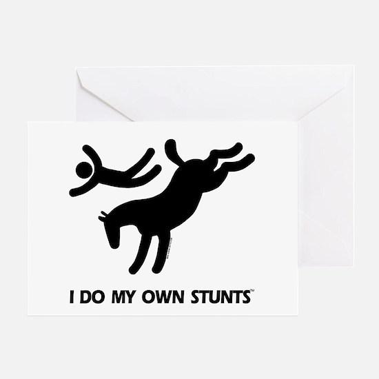 Horse I Do My Own Stunts Greeting Card