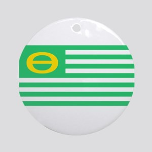 Earth Day Flag Ornament (Round)