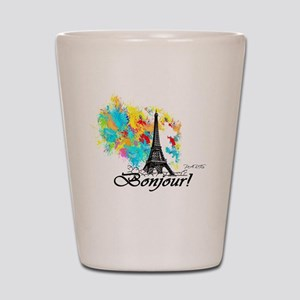BONJOUR EIFFEL TOWER PARIS Shot Glass