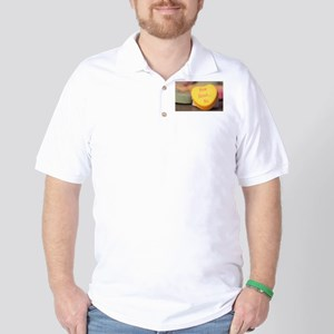 """How About...No"" Candy Heart Golf Shirt"