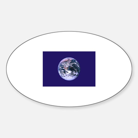 Earth Day Flag Oval Decal