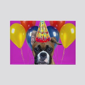 Happy Birthday boxer Rectangle Magnet