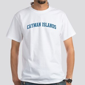 Cayman Islands (blue) White T-Shirt