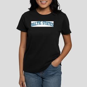 Baltic States (blue) Women's Dark T-Shirt