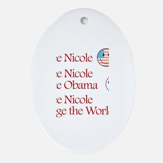 See Nicole Vote Obama Oval Ornament