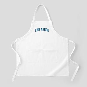 Ann Arbor (blue) BBQ Apron