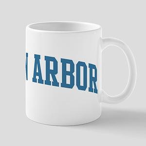 Ann Arbor (blue) Mug