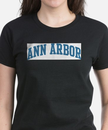 Ann Arbor (blue) Women's Dark T-Shirt