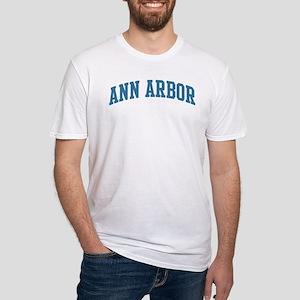 Ann Arbor (blue) Fitted T-Shirt