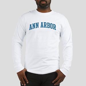 Ann Arbor (blue) Long Sleeve T-Shirt