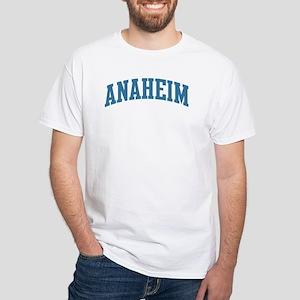 Anaheim (blue) White T-Shirt