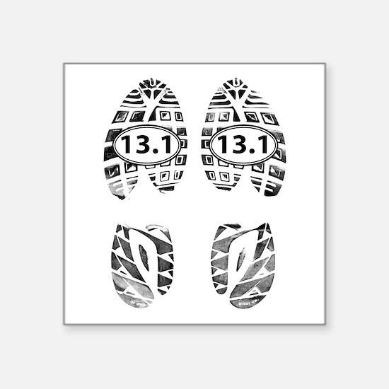 13.1 HALF MARATHON FOOTPRINTS Sticker