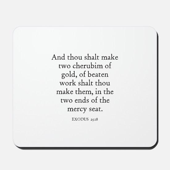 EXODUS  25:18 Mousepad