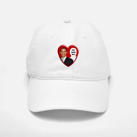 Buy Custom Obama Heart Baseball Baseball Cap