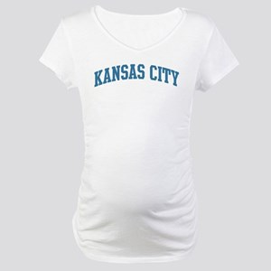 Kansas City (blue) Maternity T-Shirt