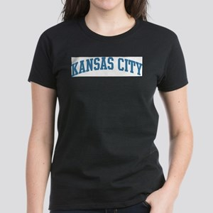 Kansas City (blue) Women's Dark T-Shirt