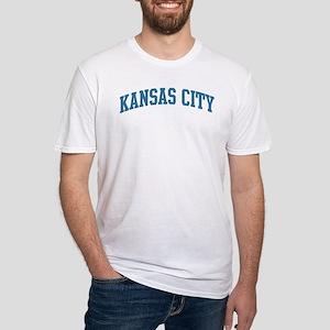 Kansas City (blue) Fitted T-Shirt