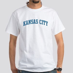 Kansas City (blue) White T-Shirt