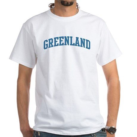 Greenland (blue) White T-Shirt