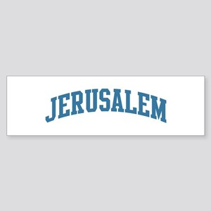 Jerusalem (blue) Bumper Sticker