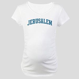 Jerusalem (blue) Maternity T-Shirt