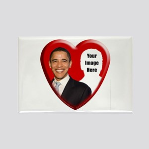 Buy Custom Obama Heart Rectangle Magnet