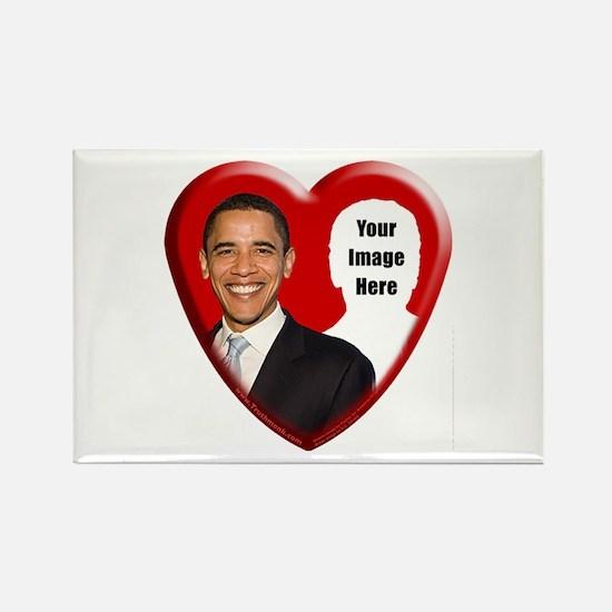 Buy Custom Obama Heart Rectangle Magnet