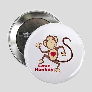 "Love Monkey Heart 2.25"" Button"