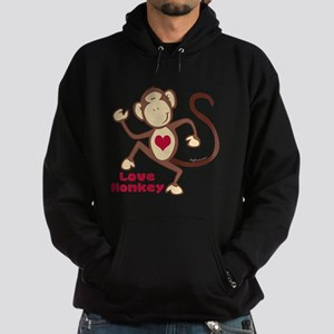 Love Monkey Heart Hoodie (dark)