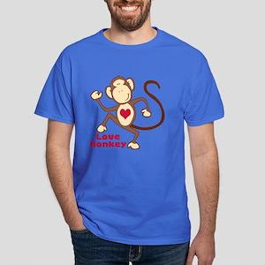 Love Monkey Heart Dark T-Shirt