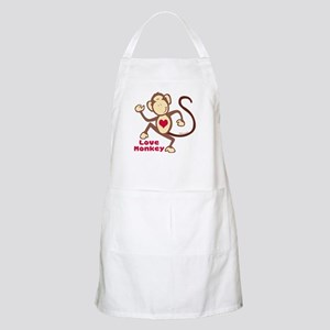 Love Monkey Heart BBQ Apron