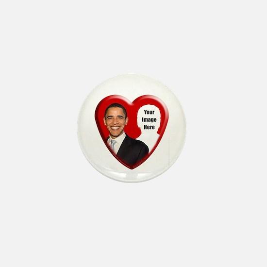 Buy Custom Obama Heart Mini Button