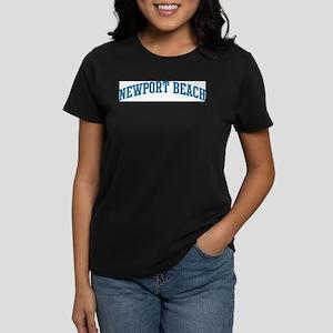 Newport Beach (blue) Women's Dark T-Shirt