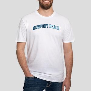 Newport Beach (blue) Fitted T-Shirt