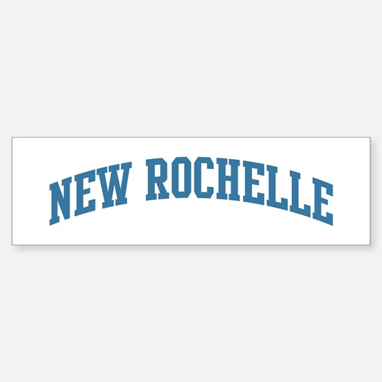 New Rochelle (blue) Bumper Bumper Bumper Sticker