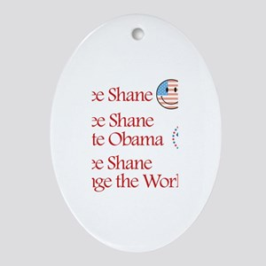 See Shane Vote Obama Oval Ornament